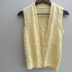 Crochet Vest Cardigan Top Vintage